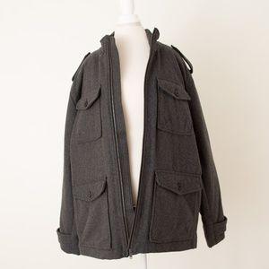NWT Men's GAP Gray Pea Coat